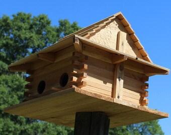 Handmade Bird House... For Bluebirds and Martins... Great for nesting birds... Control Mosquito and bug population... All Cedar wood...