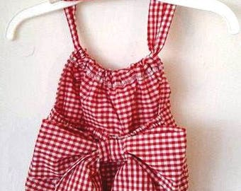 Gingham Bubble Romper