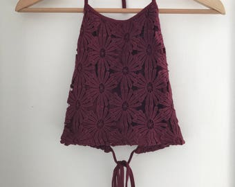Don't Ask Amanda Embroidered Halter Neck Top