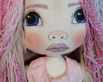 OOAK Art textile doll
