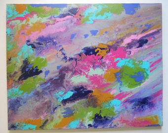 Large Original Abstract Acrylic Painting on Canvas