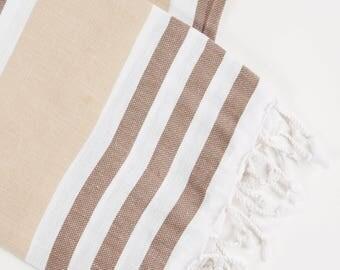 BROWN - Premium stylish Turkish Towel