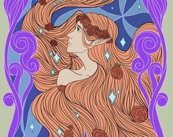 """Digital Illustration """"Elven Dream"""""""