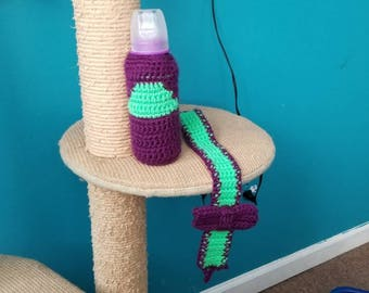Baby bottle cozy and pacifier holder
