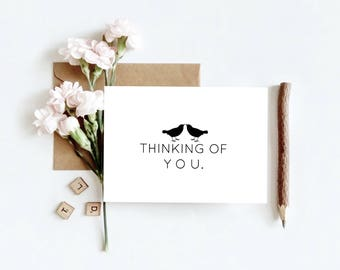 Printable Thinking of You Card, Print Stationary