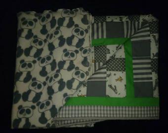 Handmade Patchwork Cot quilt/ play mat