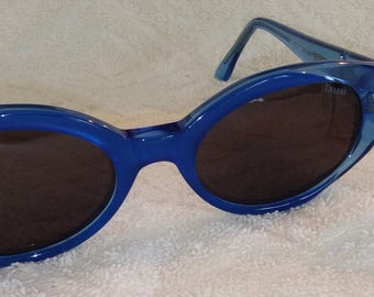 New CHARME Vintage Sunglasses 7239 U82 Blue Frame New Old Stock Imported Italy