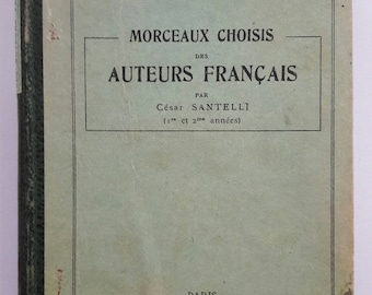 """Book """"Pieces of French authors"""" by César Santelli"""