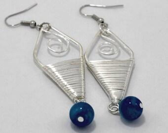 Wire Wrapped Chandelier Earring