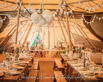 20 Rustic Wedding Table Runners - looked great in tipi venue