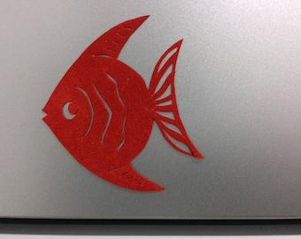 Fish refrigerator magnet, hand cut