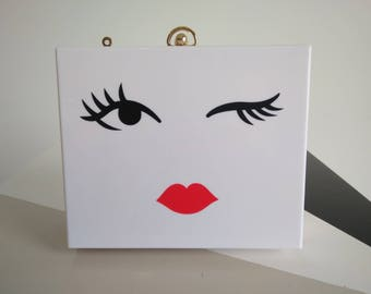 Painted acrylic clutch