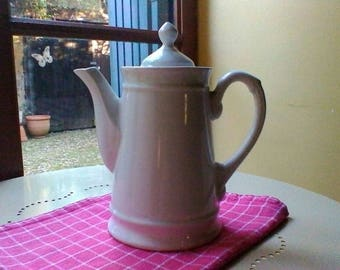 Coffee Pot - French vintage white porcelaine