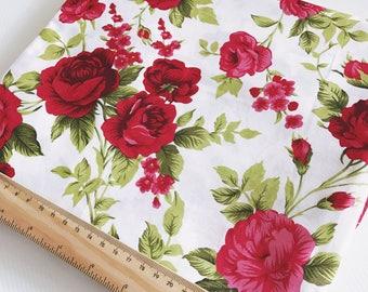 Vivien - Crimson - 100% lightweight cotton fabric