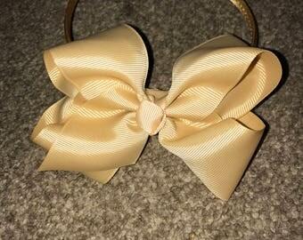 Gold big bow headband