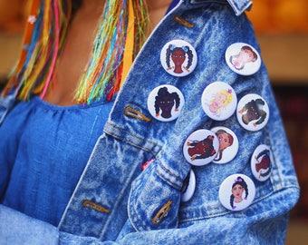 Black Girl Magic Badge Set