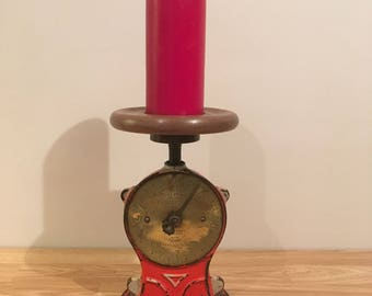 Up-Cycled Salters No50 Weighing Scales Candle Holder