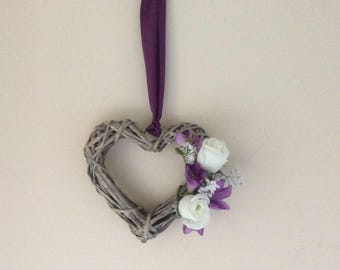 Decorated flower heart