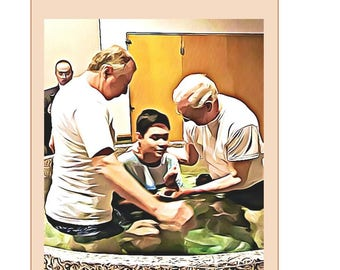 Baptism, young man, brother, Jehovah's Witnesses, greeting cards, JW