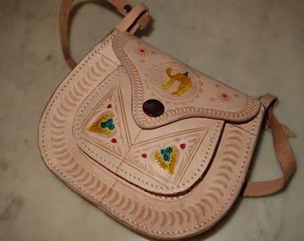 FREE Shipping! Leather bag handmade; Original; Boho bag; SAV slung leather handmade! Free Shipping!