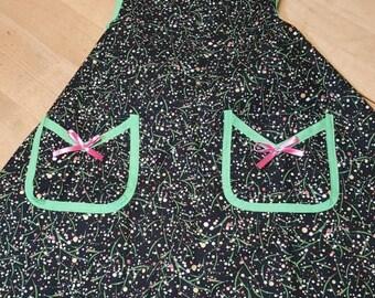 Christmas apron polka dots