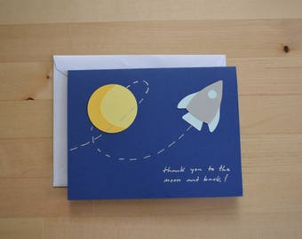 thank you to the moon & back card