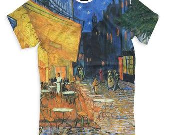 Vincent van Gogh Cafe Terrace on the Place du Forum Men's Women's T-Shirt