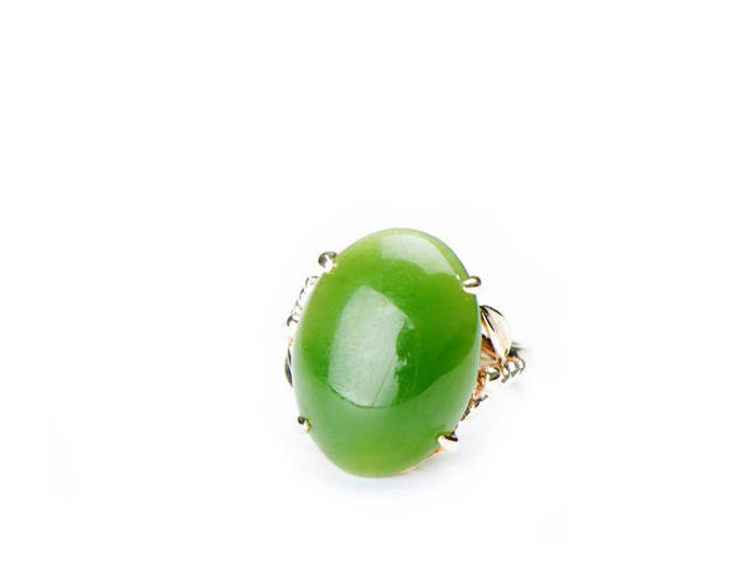 Vintage Jade Gold Ring