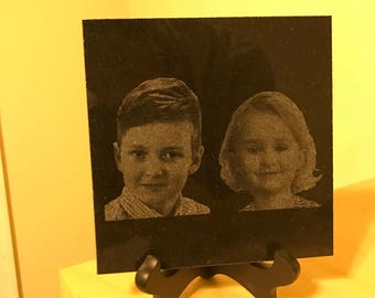 Laser engraving from photographs
