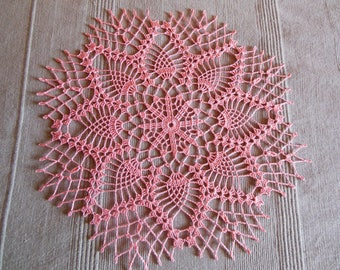 """High Alps"" round crochet doily"