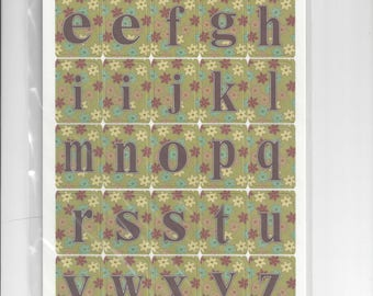 Three Bugs in a Rug ~ The Cotton Shop Alphabet Die Cuts