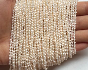 2-2.5mm seed pearls, white small pearl bead, freshwater baroque pearl, genuine natural color tiny pearl bead supplies
