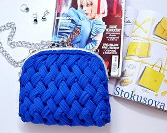 little blue bag, bag of knitwear