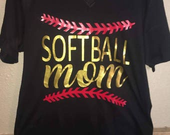 Softball Mom Custom Shirt