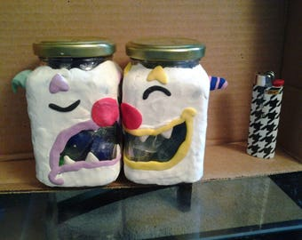 clown stash jar set
