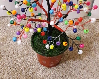 color beads tree