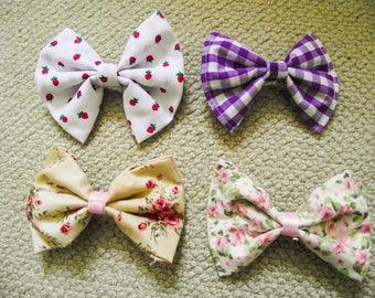 Barrette clip hair bow