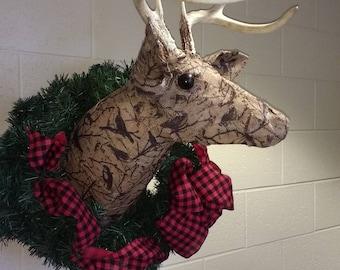 Decorative deer wall mount