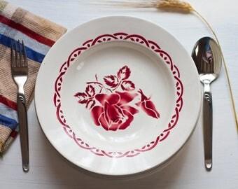 Soup plate Digoin Sarreguemines Stampille