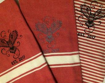 Owl Cotton Kitchen Towels (set of 3)