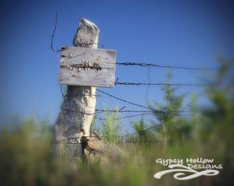 Fence Post Warning