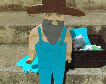 Hillbilly man yard art