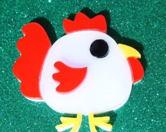 Chelsey the Chicken Brooch