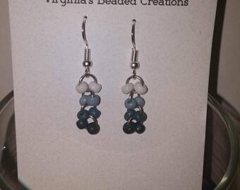 Tri color earrings