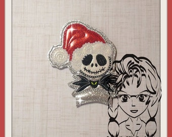 SaNTA JaCK FaCE Center (Add On ~ 1 Pc) Mr Miss Mouse Ears Headband ~ In the Hoop ~ Downloadable DiGiTaL Machine Embroidery Design by Carrie