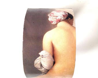 Bracelet La GRANDE BAIGNEUSE, from a painting by INGRES, cardboard and paper by The Sausage