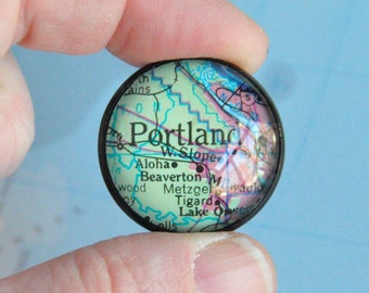 Portland Oregon Map Lapel Pin Ready to Ship