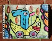 Bunny Dog and the Banana Mobile Original Art Book