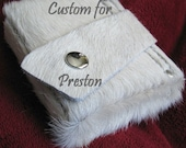 CUSTOM for Preston - Men's Leather Money Clip Wallet - Hand Stitched - Hair-On Cowhide