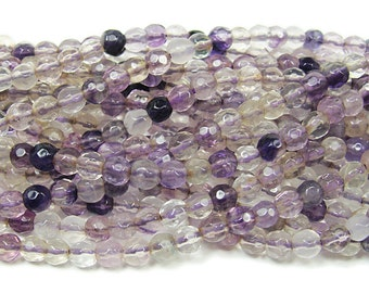 Fluorite Faceted Gemstone Beads